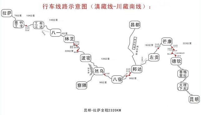 滇藏线地图