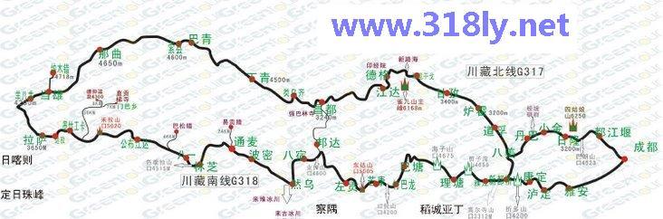 318国道(川藏线)分段路况,里程,正常通行时间